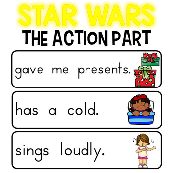 Subject and Predicate Sort - Star Wars Theme for Pocket Chart