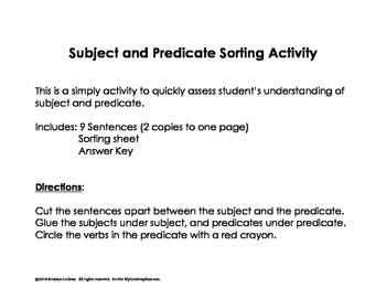 Subject and Predicate Sorting
