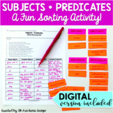 Subject and Predicate Sort Activity