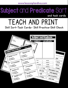 Reading 3rd Grade Worksheets Word Subject And Predicate Sort And Task Cards By The Lesson Plan Diva Pain Diary Worksheet with Classifying Shapes Worksheet Word Subject And Predicate Sort And Task Cards Free Printable Mathematics Worksheets Excel