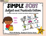Subject and Predicate Sorting Cards