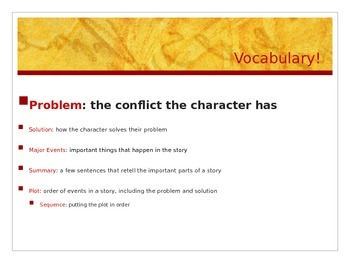 Subject and Predicate/Story Structure Lesson Plan Powerpoint