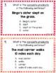 Subject and Predicate Anchor Charts and Task Cards
