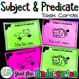 Subject and Predicate Task Cards for Kindergarten with Anc