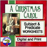 A Christmas Carol Subject and Predicate Worksheets