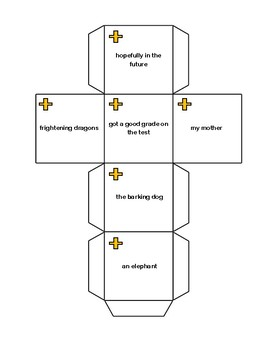 Subject and Predicate Writing Cubes Activity