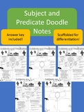 Subject and Predicate doodle notes