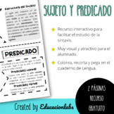 Subject and Predicate in Spanish / Sujeto y Predicado en C