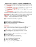 Subject and Predicate worksheets & Activities. Compound Subjects & Verbs. Gr 6-7