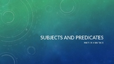 Subject and Predicates PowerPoint