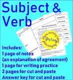 Subject and Verb Agreement Notes and Practice Packet