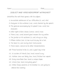 Subject and Verb Agreement Worksheet 1