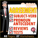 Subject and Verb Agreements | Pronouns Antecedent Agreements Bundle | ELA