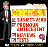 Subject and Verb Agreements | Pronouns Antecedent Agreements Bundle | ELA