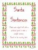 Subject and predicate Santa Sentences