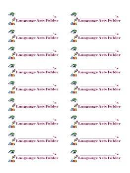 Subject folder labels