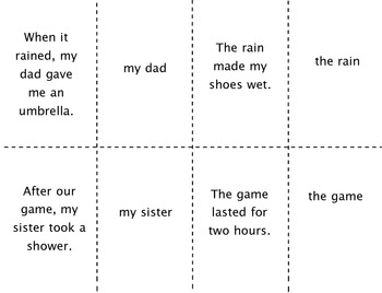 Subject of a Sentence Activities Mini-Pack