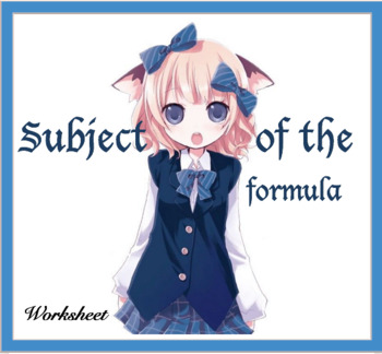 Subject of the formula