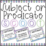 Subject or Predicate SCOOT! Game, Task Cards or Assessment