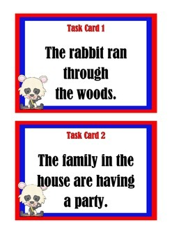 Subject or Predicate Task Cards