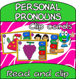 Subject personal pronouns - clip cards