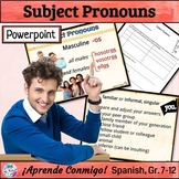 Subject Pronouns Lesson/Practice (Spanish): animated, inte