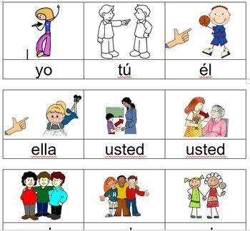 Subject pronouns a multi-day Spanish lesson novice