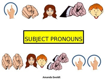 Subject pronouns and placement in a verb chart
