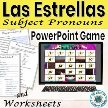 Subject pronouns game - Spanish  (will customize)