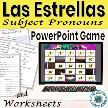Subject pronouns Practice (Spanish): game, animated, interactive PowerPoint