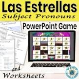 Spanish Subject Pronoun Game Las Estrellas