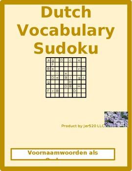 Subject Pronouns in Dutch Sudoku