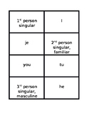 Pronoms sujets (Subject pronouns in French) Concentration games