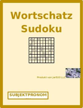 Subject pronouns in German Sudoku