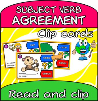 Subject-verb Agreement Clip Cards