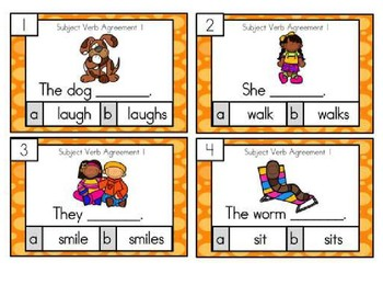 Subject verb agreement activity