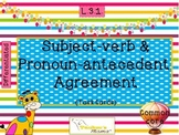 Subject-verb and Pronoun-antecedent Agreement {L.3.1}