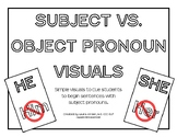 Subject vs. Object Pronoun Visuals