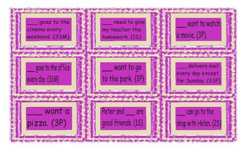 Subject vs Object Pronouns Cards
