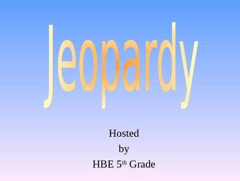 Subject/Predicate Jeopardy