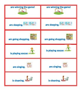Subject/Verb Agreement Conversation Card Game