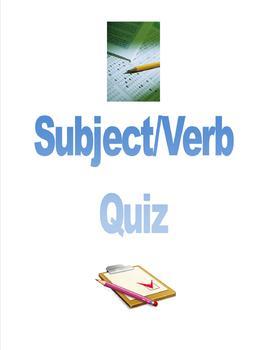Subject/Verb Quiz
