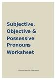 Subjective, Objective & Possessive Pronouns