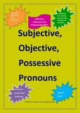 Common Core L.6.1a - Subjective, Objective and Possessive