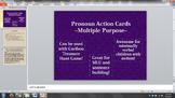 Pronoun/Verb Cards for Cariboo Treasure Hunt Game and Sent