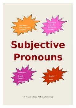Subjective Pronouns