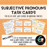 Subjective Pronouns Task Cards