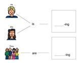 Subjective Pronouns + -ing Verb Visual