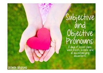 Subjective and Objective Pronouns Powerpoint and worksheets