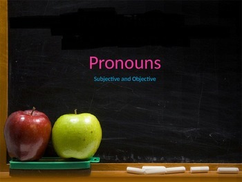 Subjective and Objective Pronouns lesson
